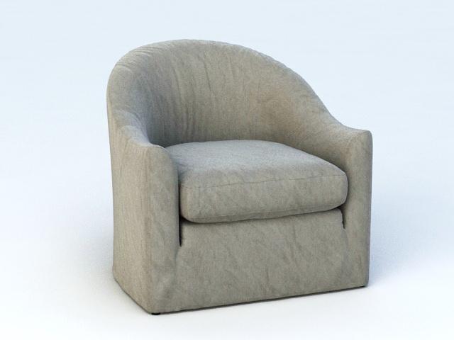 Single Sofa Chair 3d model