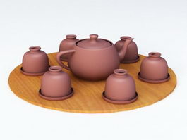 Japanese Tea Set 3d model