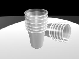 Clear Plastic Disposable Cups 3d model