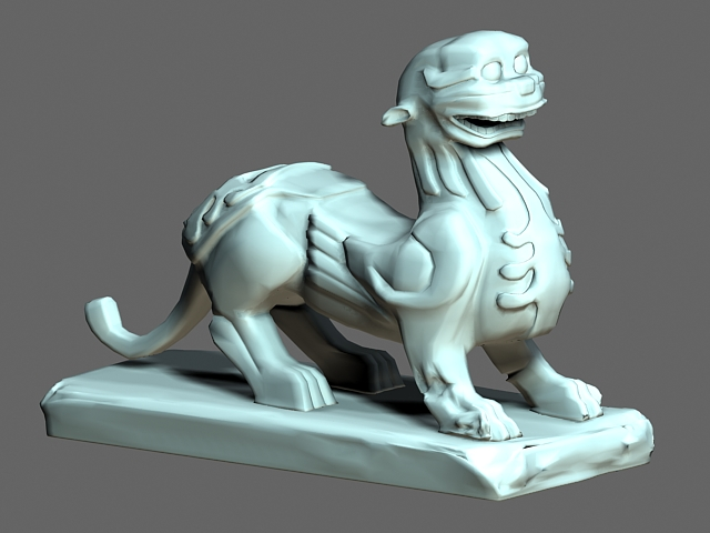Chinese Pixiu Statues 3d rendering