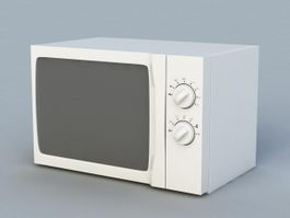 Old Microwave 3d model