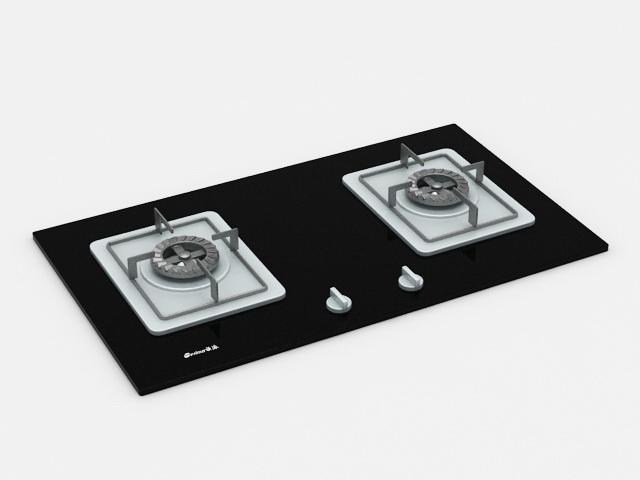 Kitchen Gas Stove Top 3d model