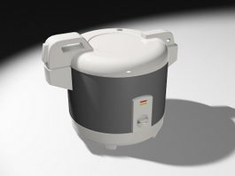 Old-Style Rice Cooker 3d model