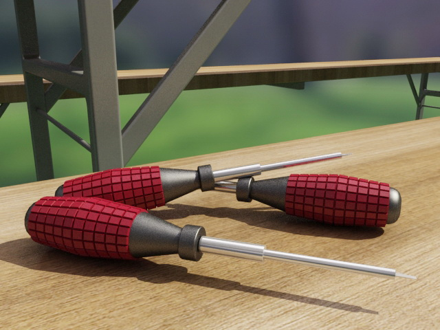 Flat Head Screwdriver 3d model