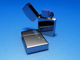 Chrome Zippo Lighter 3d model