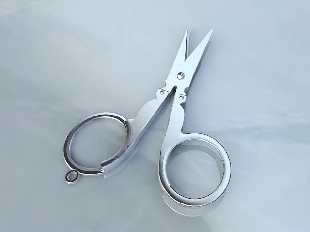 Open Scissors 3d model