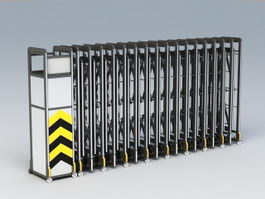 Folding Motorized Gate 3d model