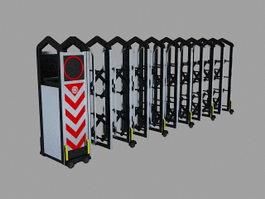 Electric Automatic Retractable Gate 3d model