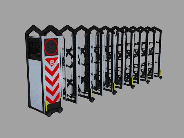 Electric Automatic Retractable Gate 3d model