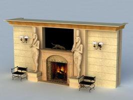 Egyptian Fireplace 3d model