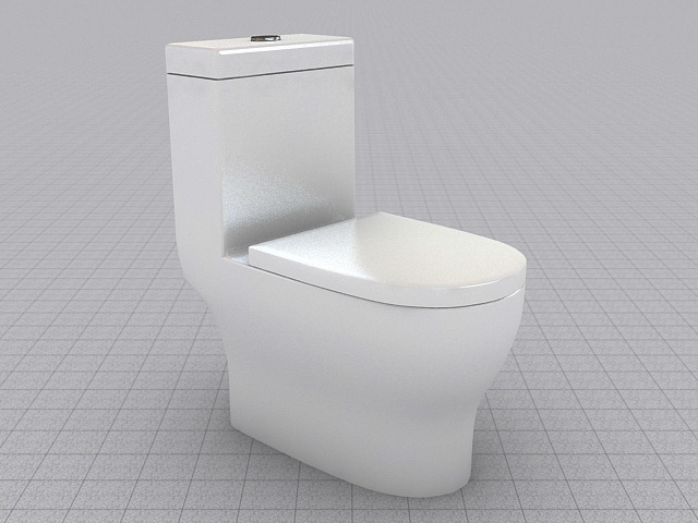 Flush toilet 3d model 3ds max files free download modeling 43568