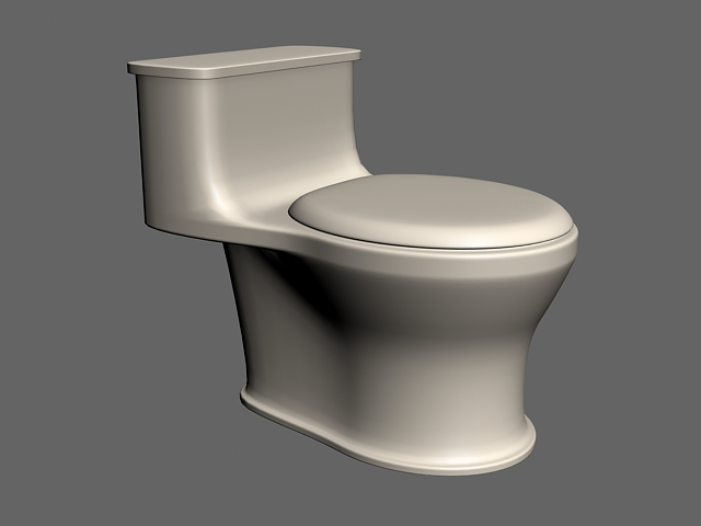 Antique Bathroom Toilet 3d model