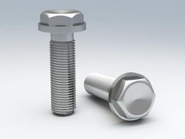 Hex Flange Bolt 3d model