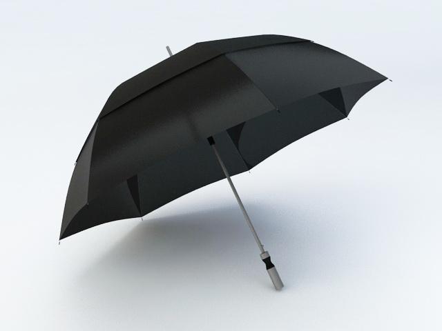 Black Umbrella 3d model