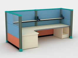Modern Office Cubicle 3d model