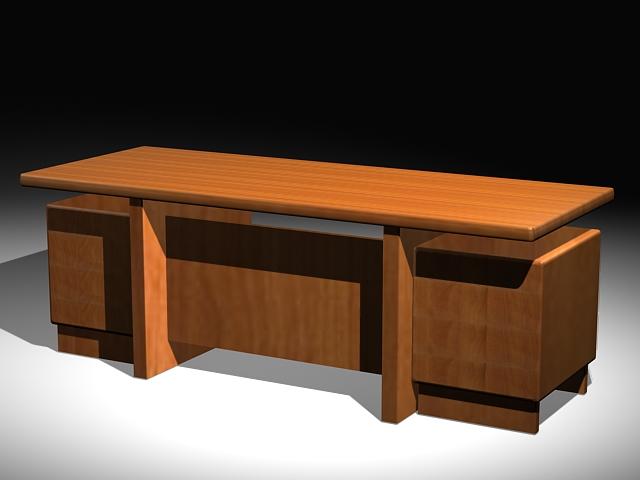Executive Office Desk 3d model