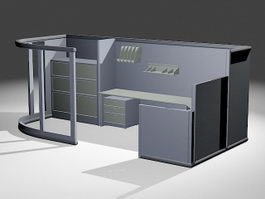 Manager Cubicles 3d model