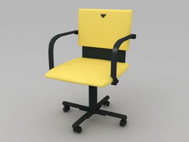 Yellow Office Chair 3d model