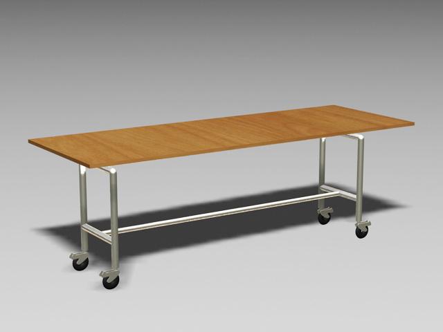 Mobile Office Desk Workstation 3d model