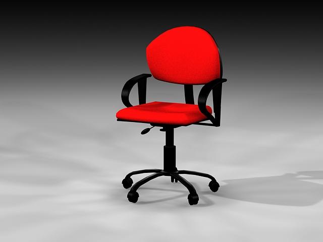 Red Desk Chair 3d model