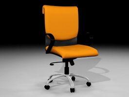 Orange Office Chair 3d model