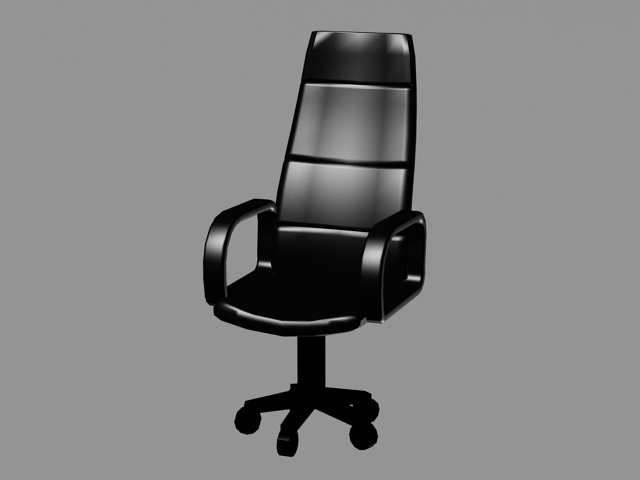 Black Office Chair 3d model