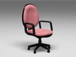 Velour Office Chair 3d model
