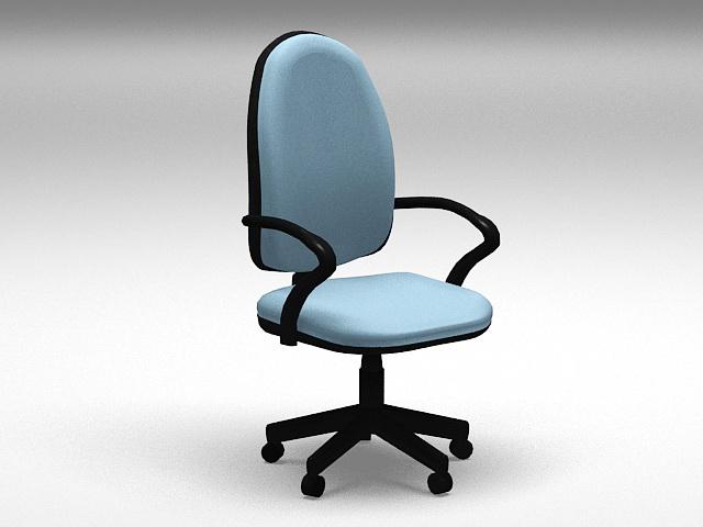Blue Computer Chair 3d model