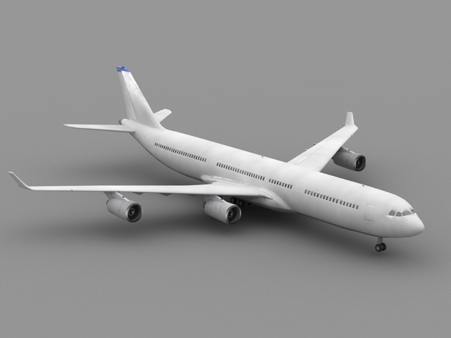 Airbus A340 Airliner 3d model