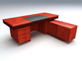 L-shaped Executive Desks 3d model