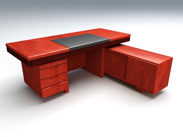 L-shaped Executive Desks 3d model