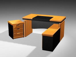 Adjustable Executive Desk 3d model