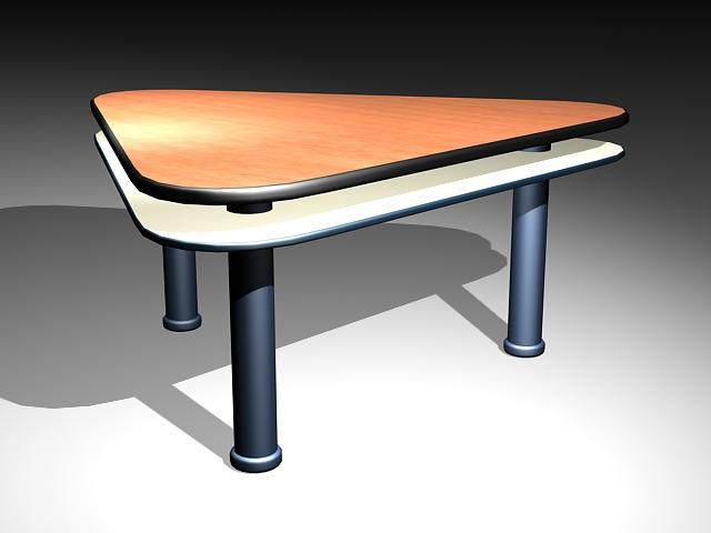 Triangle Office Desk 3d model