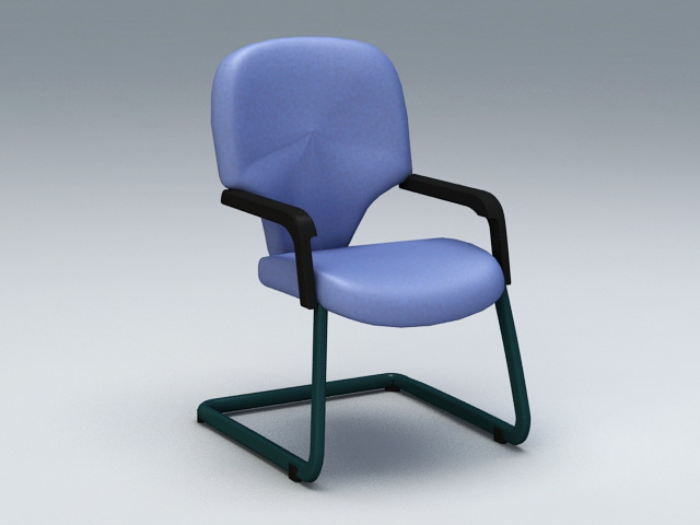 Cantilever Office Chair 3d model