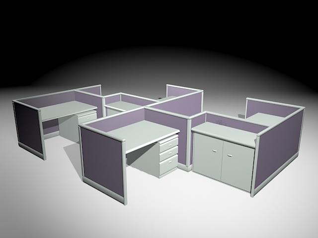 Workspace Cubicles 3d model