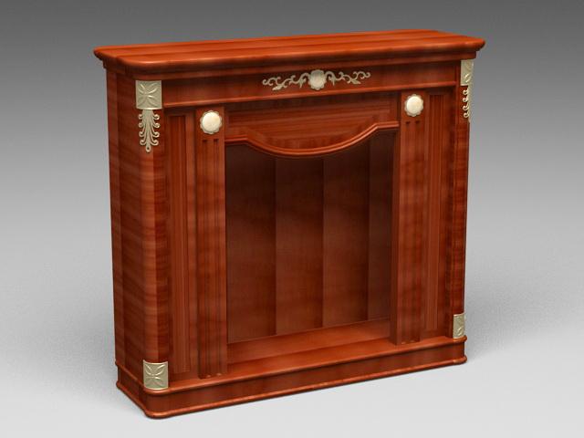 Wood Fireplace Mantel 3d model