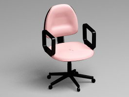 Pink Office Chair 3d model