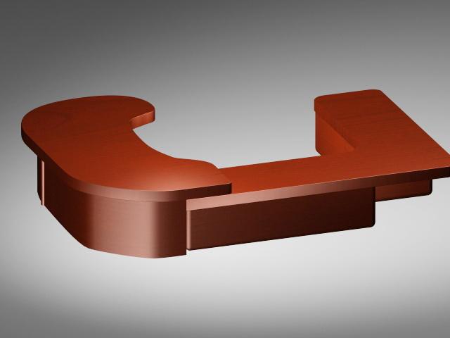Luxury Office Desk 3d model