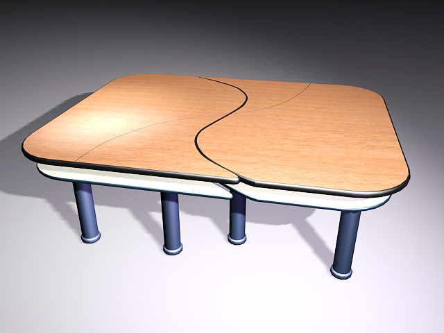 Modern Meeting Table 3d model