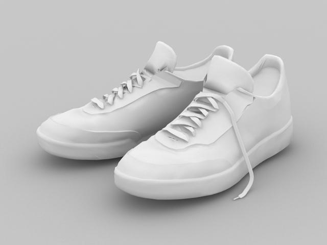 White Sneakers 3d model