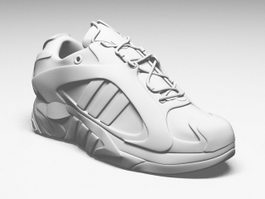 White Leather Sneaker 3d model