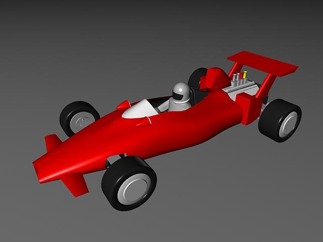 F1 Race Car Cartoon 3d model