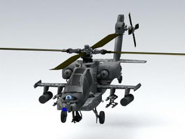 AH-64 Apache Attack Helicopter 3d model