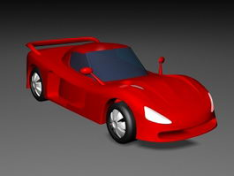 Red Cartoon Car 3d preview