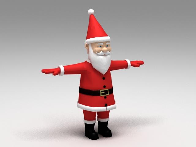 Santa Claus Rig 3d model