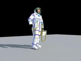 Retro Spaceman 3d model