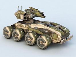 Steampunk Sci-Fi Tank 3d model
