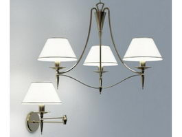 Classic Lighting Fixtures 3d model