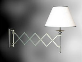 Swing Arm Wall Light Fixture 3d model