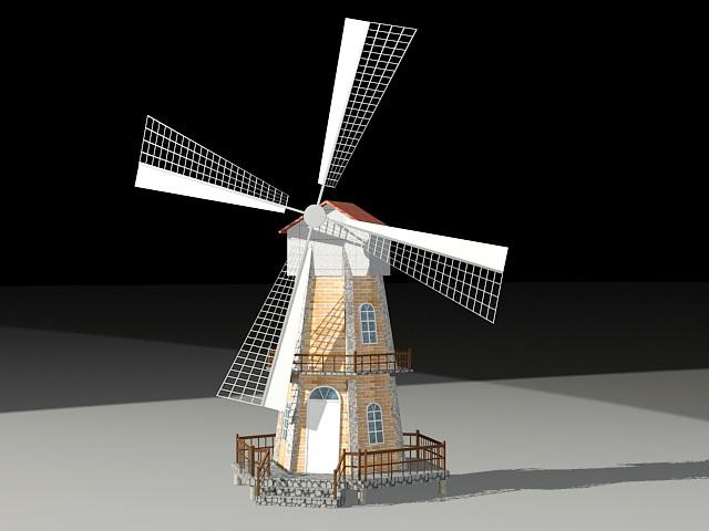 Tower Mill 3d model